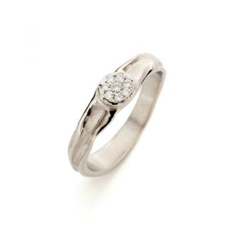 White gold engagement ring with diamonds N° 160