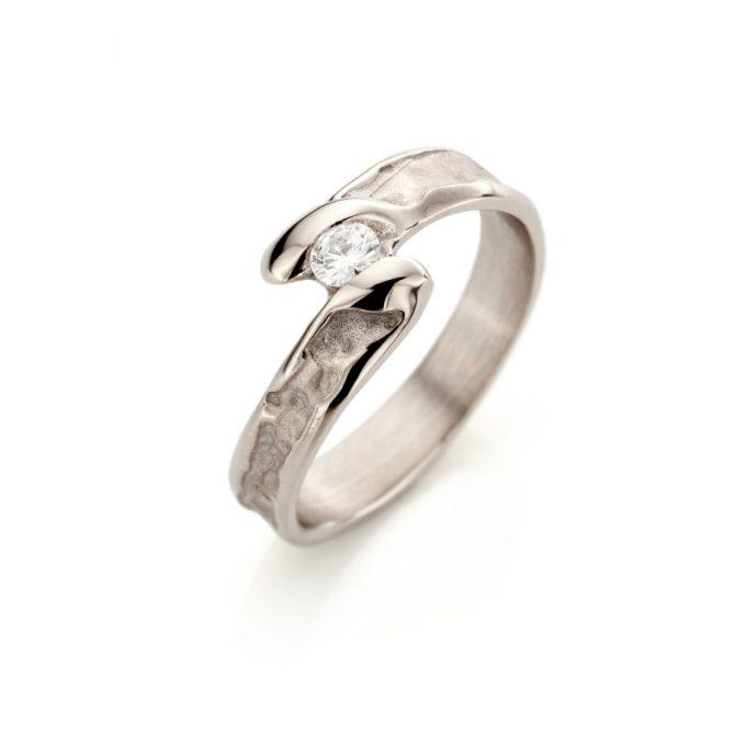 White gold engagement ring N° 175