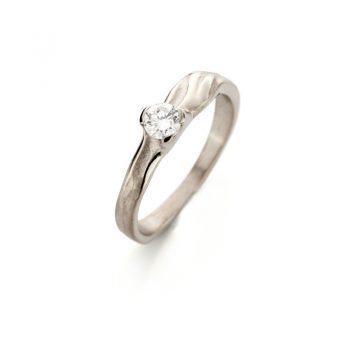 White gold engagement ring with diamond N° 206