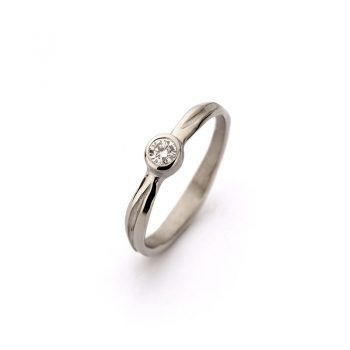 White gold engagement ring N° 207_1