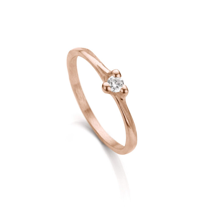 Roségold engagement ring with diamond N° 059