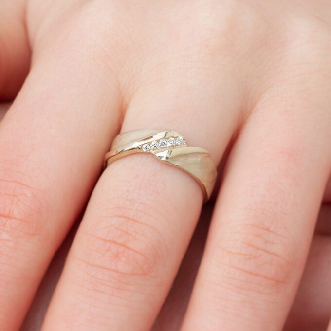 White gold ring N° 021 model picture