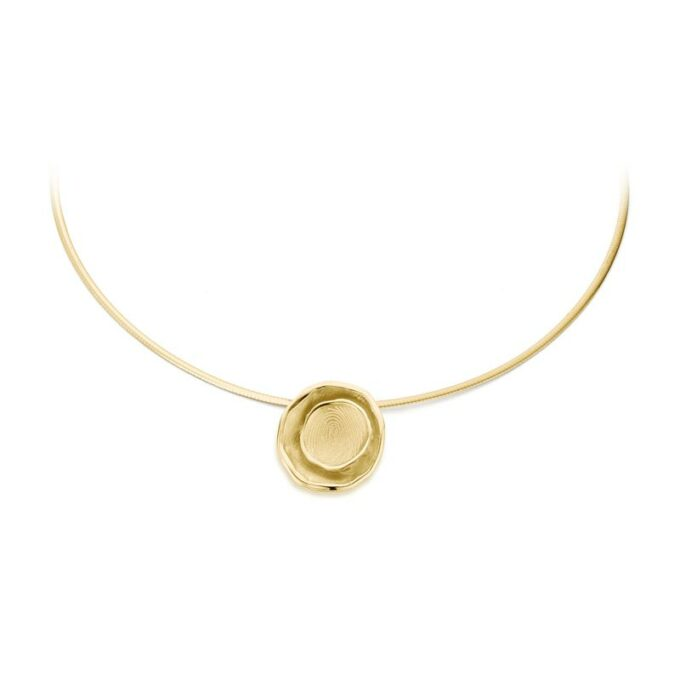 Yellow gold necklace with fingerprint