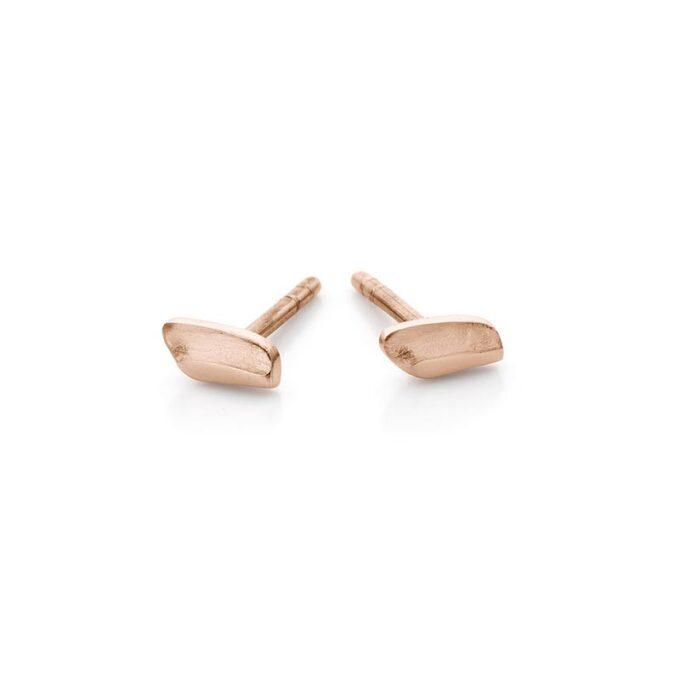 Rose golden earrings