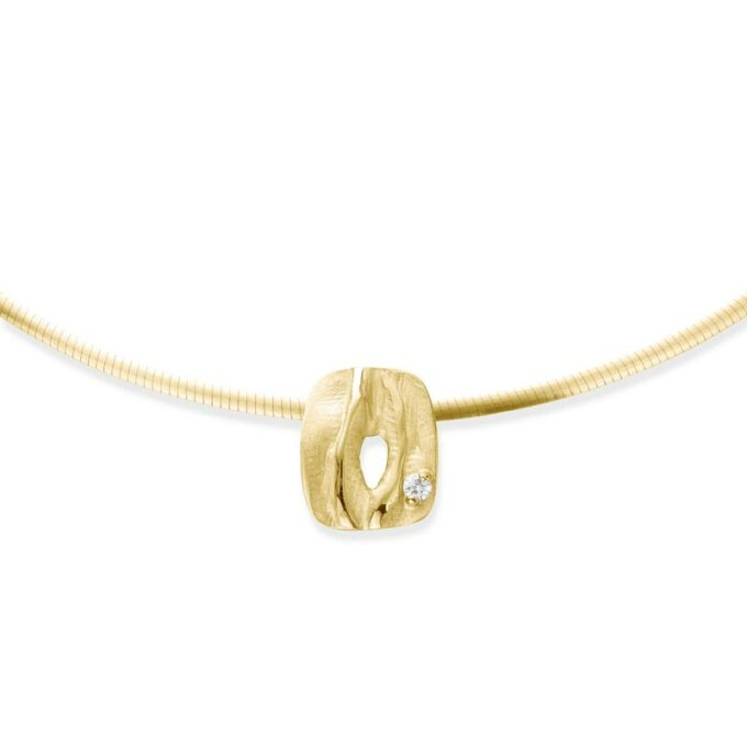 Yellow gold necklace with diamond