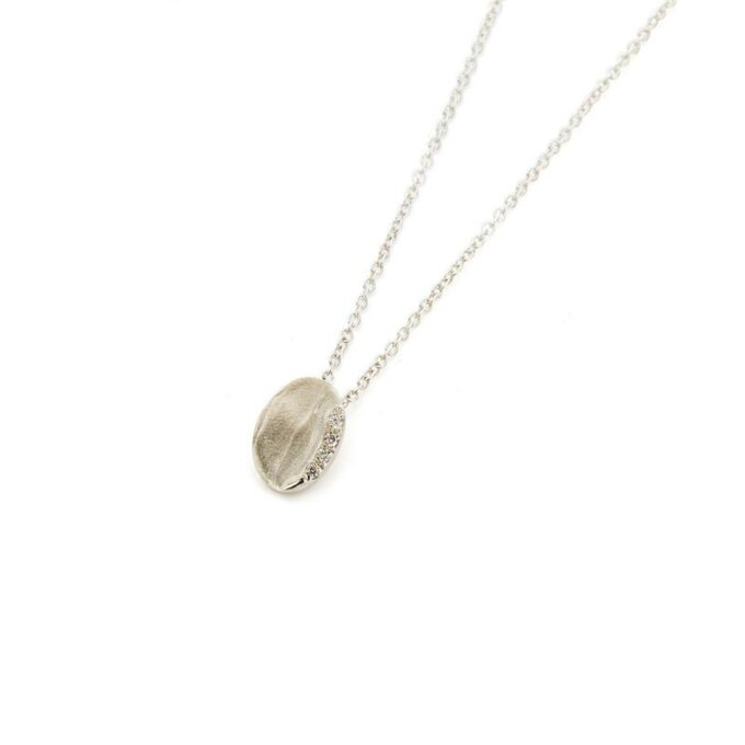 Champagne gold necklace with diamonds