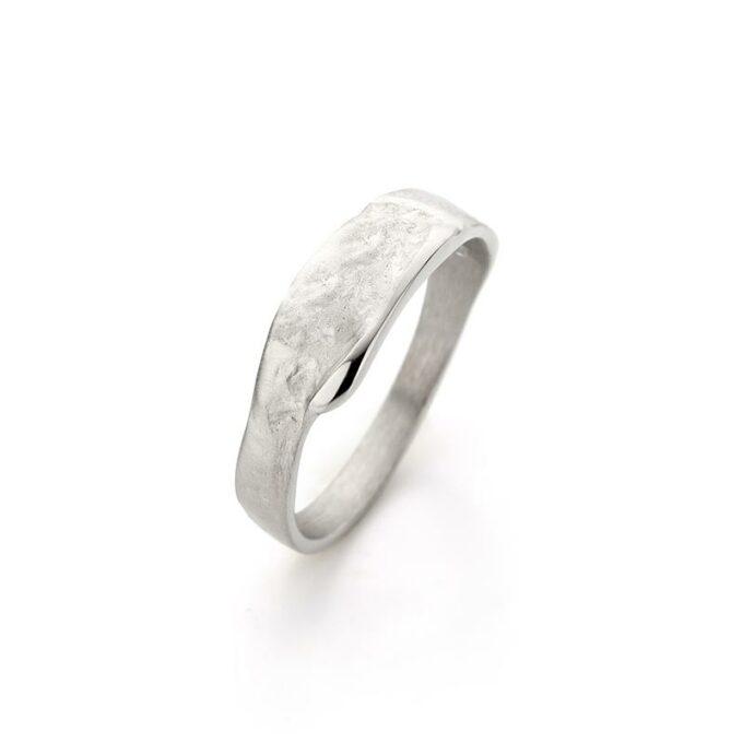 Rhodium gouden ring