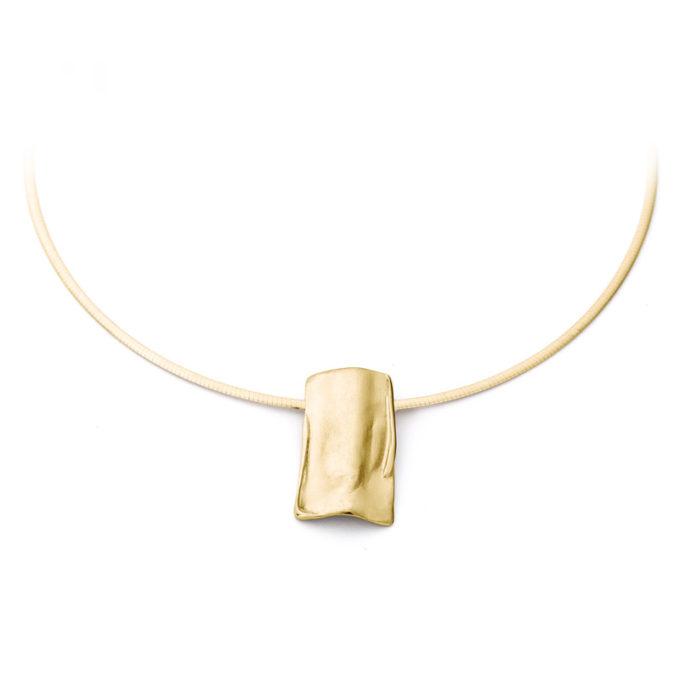 Gouden as ketting N°225 geel goud