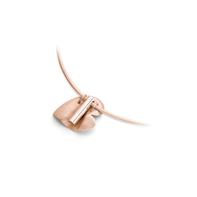 Gouden as ketting N°226 rose goud