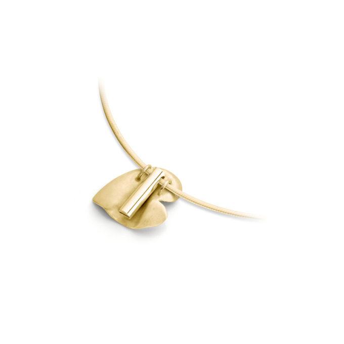 Gouden as ketting N°226 geel goud