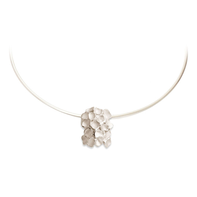 White gold memorial necklace N° 233
