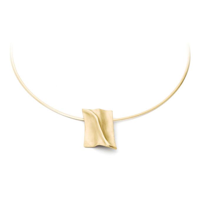 Witgouden as ketting N°227 geel goud
