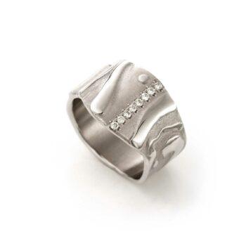 N° 100 Witgouden Ring