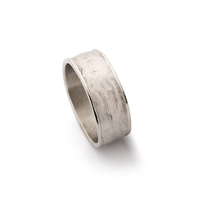 N°-29 White Gold Mens Ring
