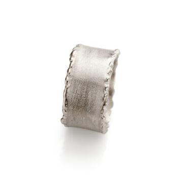 N°-33 White Gold Mens Ring