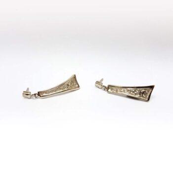 white golden earrings