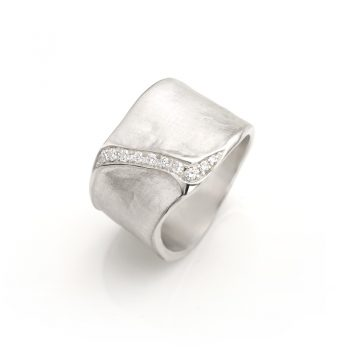 Silver ring with diamonds N° 017 SET