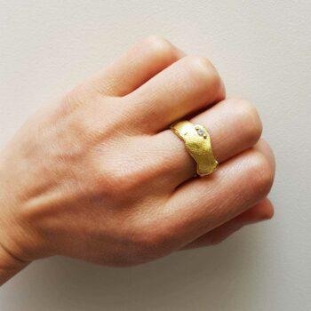R 576 Geel Gouden Ring