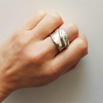 R 93 Zilveren Ring