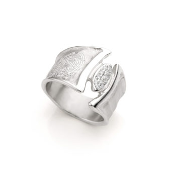 Ring N° 110 fingerprint silver