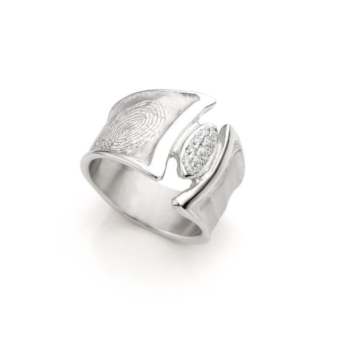 Ring N° 110 fingerprint silver