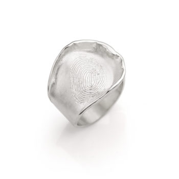 Ring N° 159 fingerprint silver