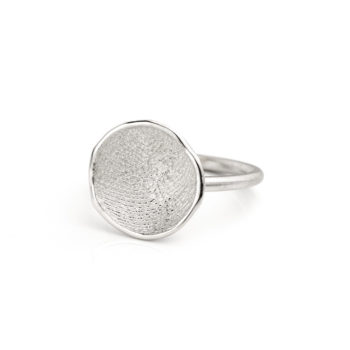 Ring N° 63 fingerprint silver