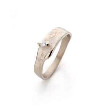 Ring White Gold with diamond N° 022