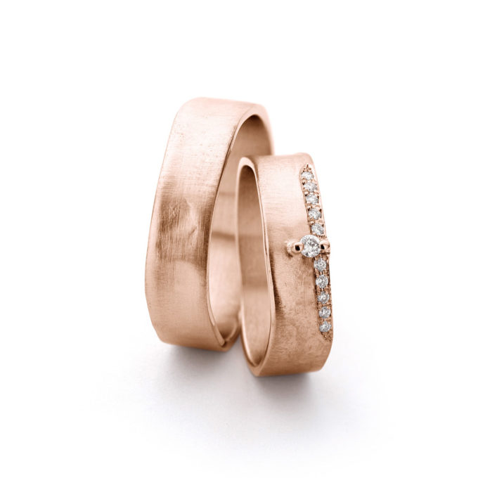 Wedding Bands N° 11-2_11 red gold diamond