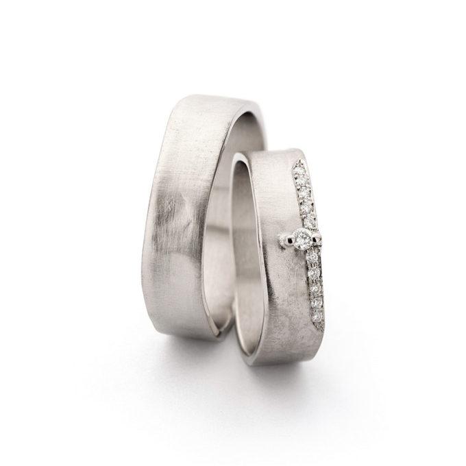 Wedding Bands N° 11-2_11 white gold rhodium diamond