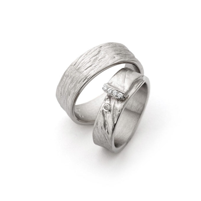 Wedding Bands N° 16_4 white gold rhodium diamond
