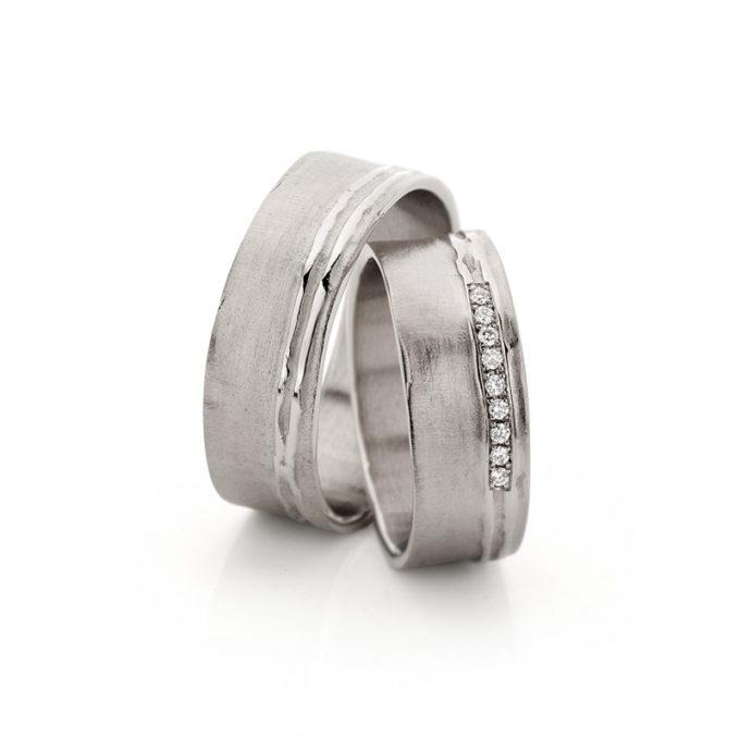 Wedding Bands N° 18_9 white gold rhodium diamond