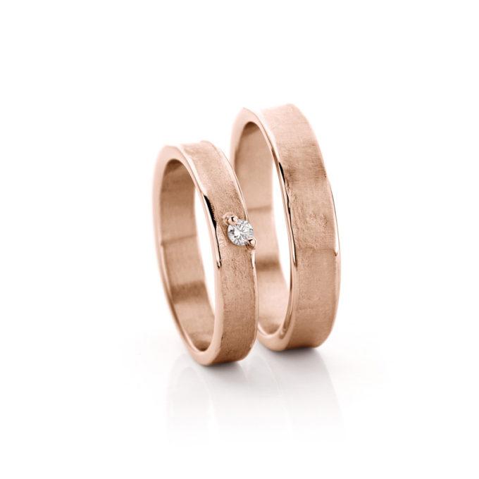 White gold wedding rings N° 21_1 rosé