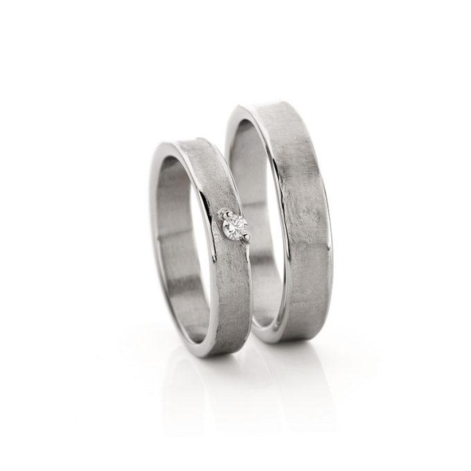 White gold wedding rings N° 21_1 rhodium