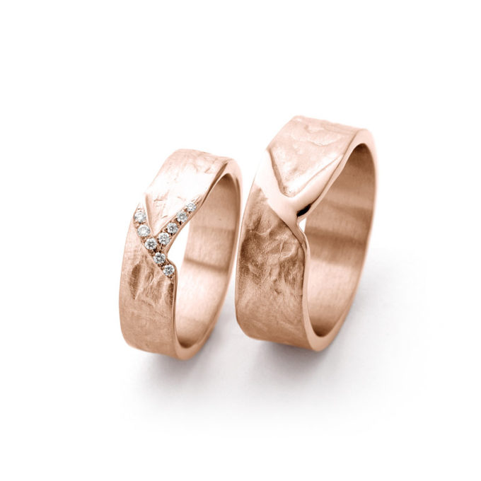 Rosé gouden trouwringen N° 20_9