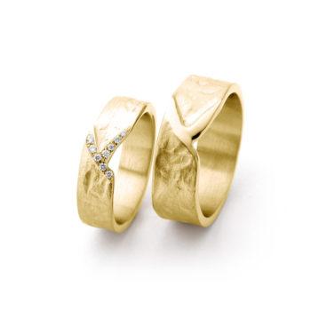 Geel gouden trouwringen N° 20_9