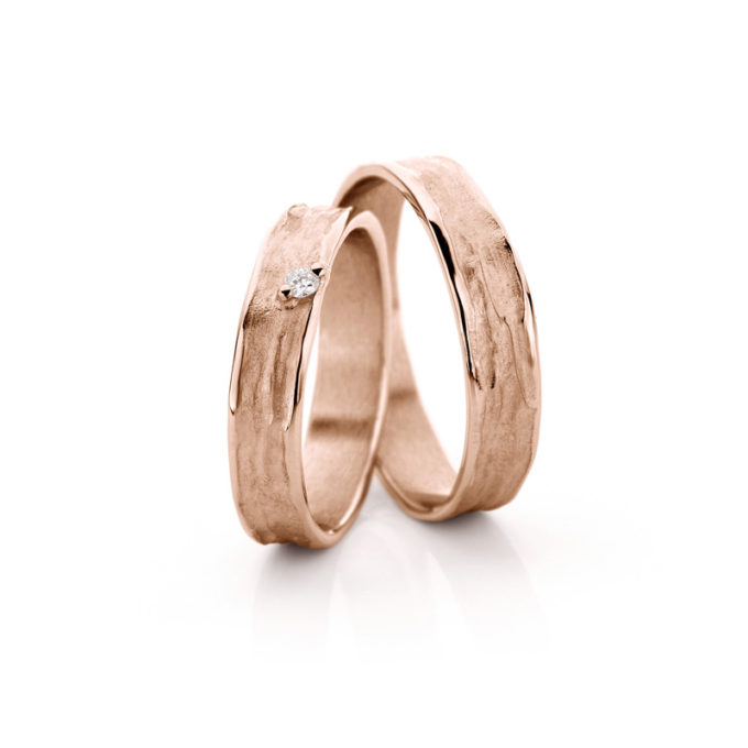 Wedding Bands N° 22_1 red gold diamond