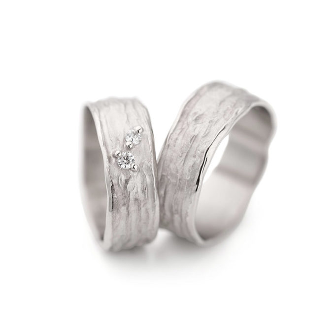 Wedding Bands N° 28_2 white gold rhodium