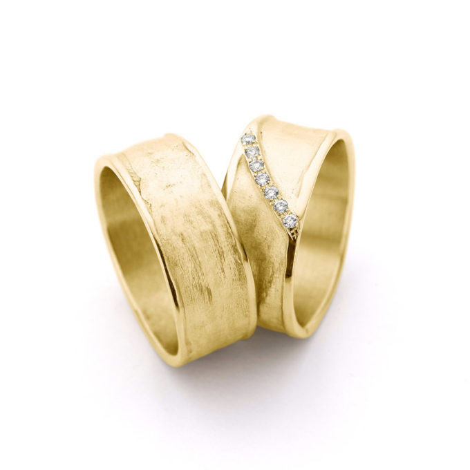Witgouden trouwringen N° 29_7 geel goud