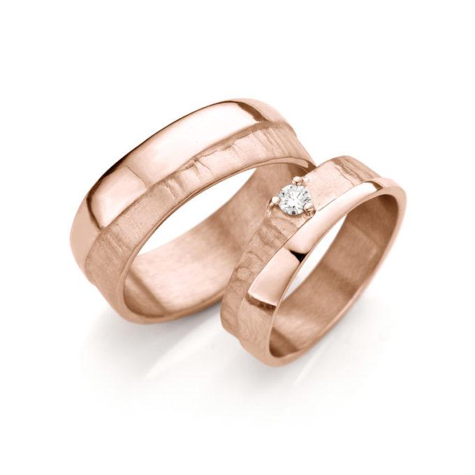 Rosé gouden trouwringen N° 2_1