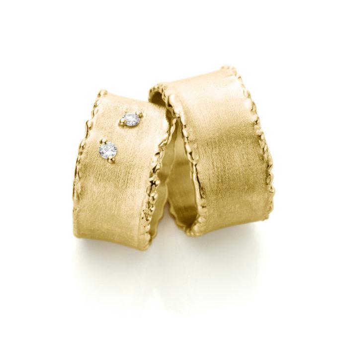 Witgouden trouwringen N° 33_2 geel goud