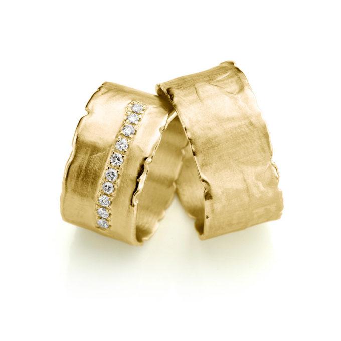 Witgouden trouwringen N° 35 geel goud