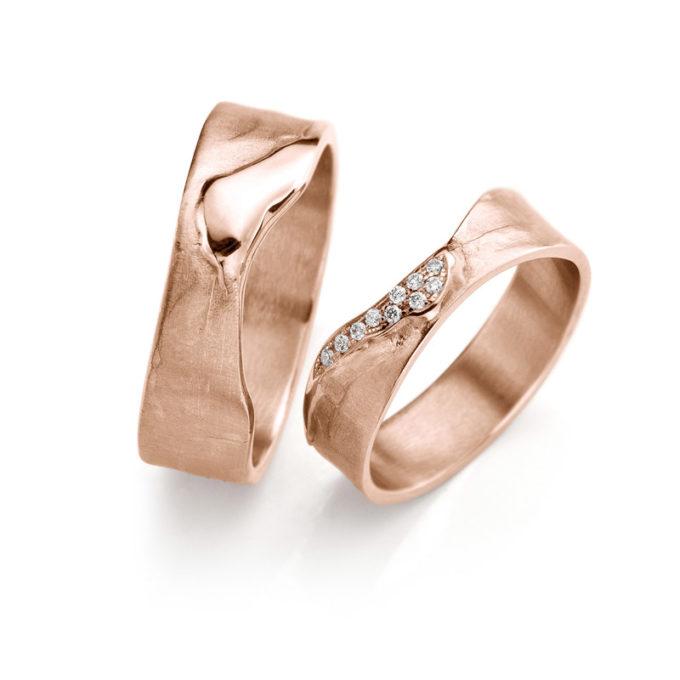 Rosé gouden trouwringen N° 3_10