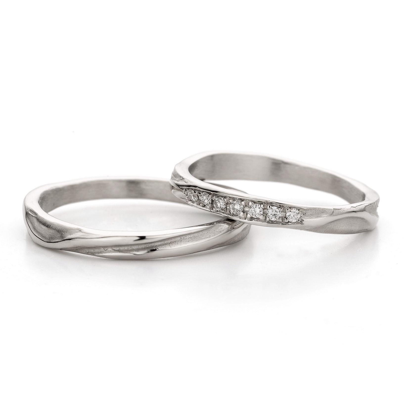 N 45 7 Handgemaakte Witgouden Trouwringen Ines Bouwen Jewelry