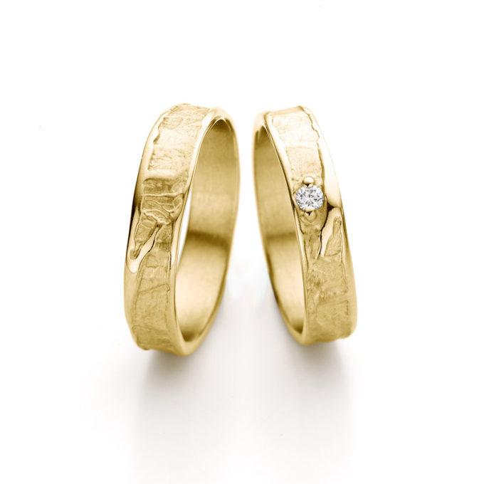 Witgouden trouwringen N° 046_1 geel goud