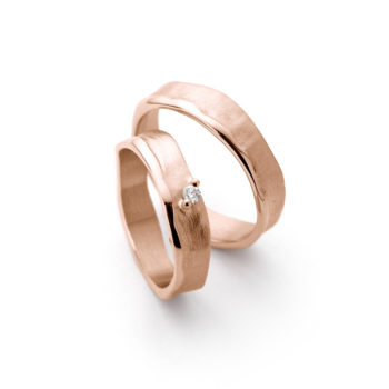Wedding Bands N° 51_1 red gold diamond