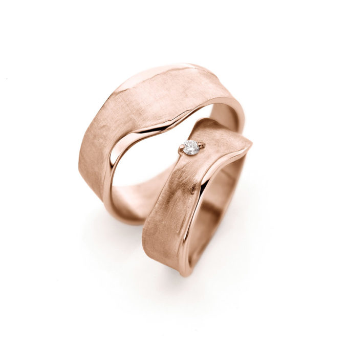 Wedding Bands N° 8_1 red gold diamond (2)