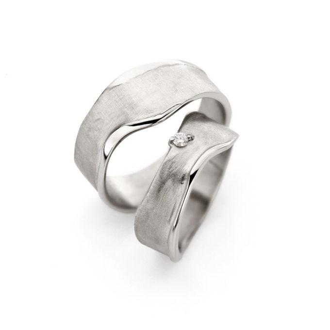 Wedding Bands N° 8_1 white gold rhodium diamond