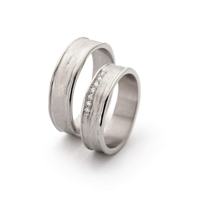 Wedding Bands N° 9_7 white gold rhodium diamond