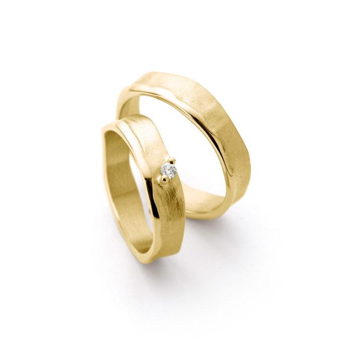 Geel gouden trouwringen N° 51_1